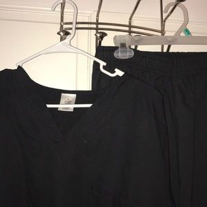 Black cotton scrubs size Medium